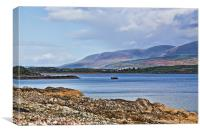 View of the Isle of Arran, Canvas Print