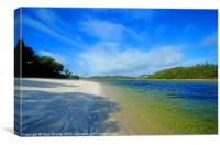 Silver Sands of Morar, Canvas Print