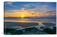 Polzeath Sunset 3, Canvas Print
