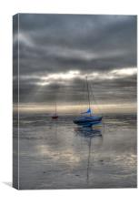 High and Dry Yachts Southend, Canvas Print