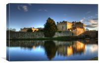 Evening Sun over Leeds Castle, Canvas Print