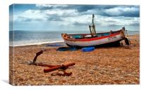 Aldeburgh Fishing Boat, Canvas Print