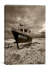 Dungeness Boat under Cloudy Skies, Canvas Print
