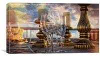Table Set for Romantic Meal, Canvas Print