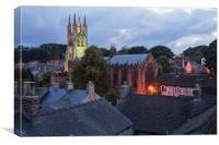 Tideswell Cathedral Of The Peak, Canvas Print