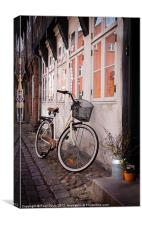 Bicycle in Ribe, Canvas Print