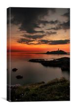 Godrevy sunset, Canvas Print