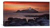 Watching the sunset at Godrevy, Canvas Print