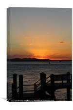 Silhouette Sunset, Canvas Print
