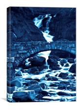 Water under the bridge, Canvas Print