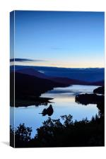 Loch Tummel - Blue hour, Canvas Print
