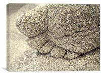 sand between the toes, Canvas Print