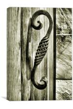 study in wood, metal and stone, Canvas Print