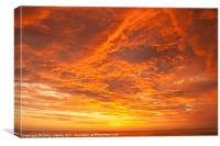 Sunset over the Pacific Ocean, Canvas Print