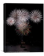 Fireworks at Plymouth, Canvas Print