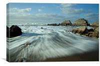 Blegberry beach Devon Part II, Canvas Print