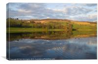 Ladybower - reflections and ripples, Canvas Print