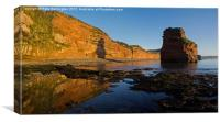 Ladram Bay - East Devon, Canvas Print