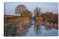 Grand Western Canal, Canvas Print