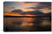 The Exe Estuary at Topsham, Canvas Print