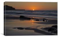 Sunset at Sennen, Canvas Print