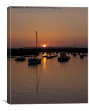 Exe Estuary near Topsham, Canvas Print