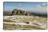 Haytor in Winter, Canvas Print