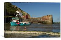 Porthgain in Wales, Canvas Print