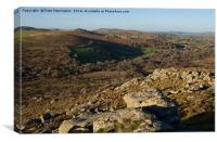 Hound Tor and Greator Rocks, Canvas Print