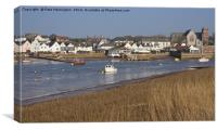 Topsham in Devon, Canvas Print