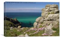 Pendower Cove in Cornwall, Canvas Print
