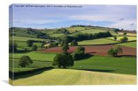 Yarde Downs from Hele Payne, Canvas Print