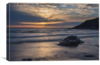 Sunset at Poldhu Cove, Canvas Print