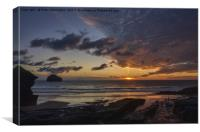 Sunset at Trebarwith Strand, Canvas Print