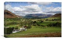Skiddaw from the Newlands valley, Canvas Print