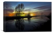 Exeter Canal at twlight, Canvas Print