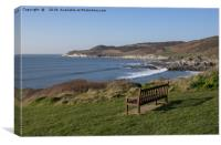 Morte point from near Woolacombe, Canvas Print