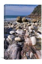 Porth Nanven in Cornwall, Canvas Print