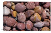 Pebbles on Budleigh Beach, Canvas Print