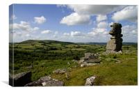 Bowermans Nose and Easdon Tor, Canvas Print