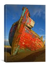 Abandoned Boat at Crow Point, Canvas Print