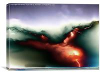 Lightning Strike, Canvas Print