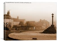 Linby Village 1, Canvas Print