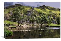 River Dove at Dovedale, Canvas Print