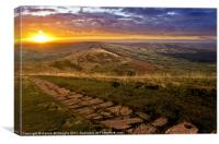 Sunrise On Mam Tor Derbyshire, Canvas Print