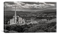 Hope cement Works, Canvas Print