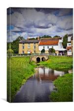 Deben Mill. Wickham Market. Suffolk., Canvas Print