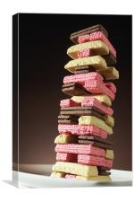 Jenga with Biscuits, Canvas Print