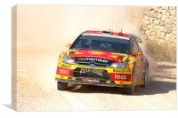 Petter Solberg, Canvas Print