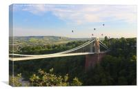 Bristol Balloon Fiesta & Clifton Bridge, Canvas Print